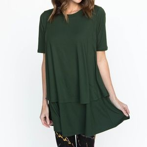 Agnes and Dora Forest Green Tiered Tunic